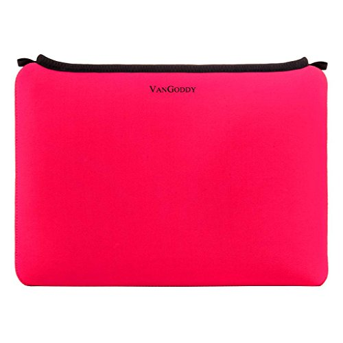 Universal 17 in 17.3 Inch Shock Resistant Neoprene Laptop Sleeve Carry on Pouch Bag, Magenta