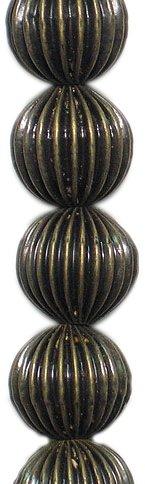 Expo bd53567rund Plissee Metall Perlen, 8Perlen in Strand