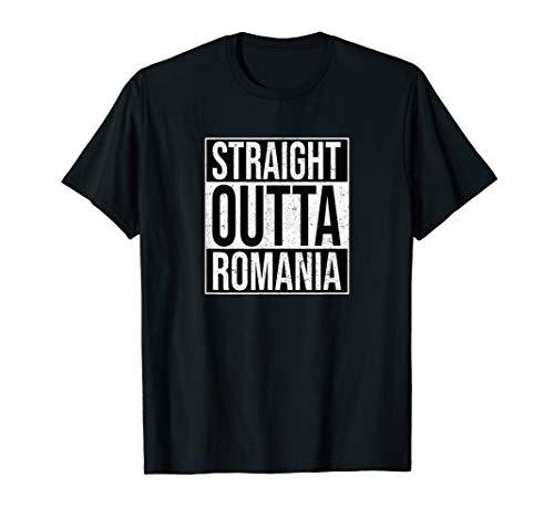 Straight Outta Romania - Hip Hop Rap Nationalstolz Rumänien T-Shirt