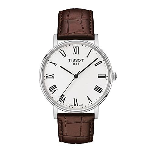 Tissot Reloj Analógico para Unisex Adultos de Cuarzo con Correa en Cuero T1094101603300