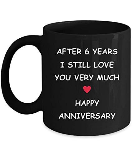Lsjuee - Regalos de sexto aniversario para su esposa, esposo, novia, novio, 6 años, 6 años, sexto, seis años, relación de boda romántica