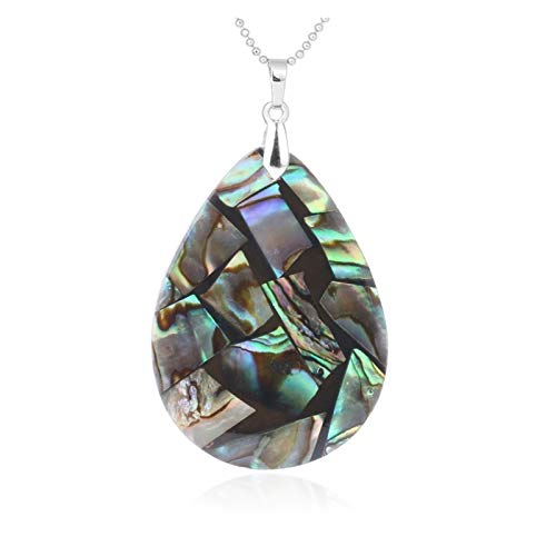 XYBB Natural Abalone Shell Necklace Pendant Water Drop Oyster Sea Mother Of Pearl Shell Jewelry Gifts For Girl