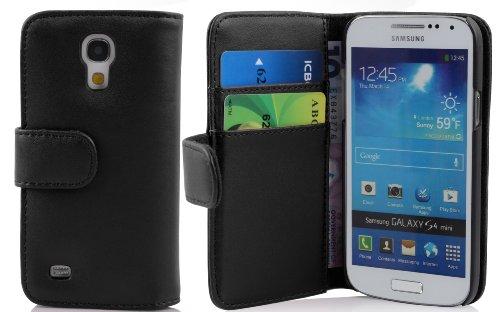 Cadorabo ! Premium - Custodia Libri Style Design Portafoglio per Samsung Galaxy S4 Mini (GT-I9195) in Nero