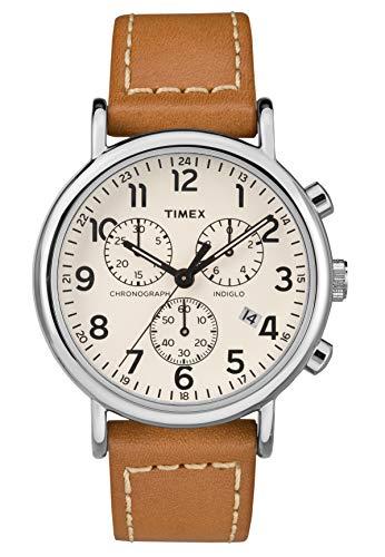 Timex Orologio Cronografo Quarzo Uomo con Cinturino in Pelle TW2R42700