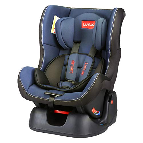 LuvLap Sports Convertible Car Seat for Baby & Kids, Rearward Facing Baby car seat (0m - 2yr) & Forward Facing (2-4yr), New Born to 4 Years, Upto 36 Kgs, European Safety Standard Certified (Blue)