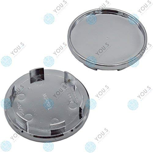 2 x YOU.S Cache-moyeux Couvercle D'enjoliveur, Couvercle De Jante 65,0-54,5 mm - métal
