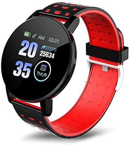 Nuevo reloj inteligente pantalla a color impermeable monitor de sueño ritmo cardíaco pulsera inteligente fitness para Xiaomi IOS (color: verde)-rojo