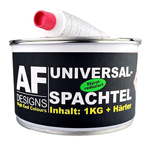 Alex Flittner Designs Universalspachtel & Härter 1 kg Spachtelmasse Füllspachtel Metall Holz Feinspachtel Alu Zink GFK