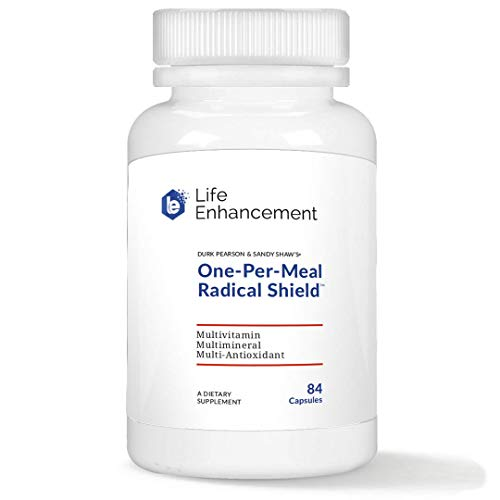 Life Enhancement One-Per-Meal Radical Shield | Multivitamin, Multimineral, and Multi-Antioxidant | 84 Servings