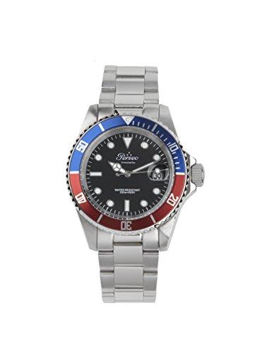 Perseo Trestelle Submariner 6789.04 Blu Rosso Nero Orologio da Polso Uomo...