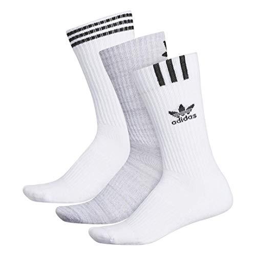 adidas Originals Originals Calcetines acolchados para hombre (3 unidades), Hombre, Calcetines, 977922, Tinte espacial Onix blanco claro, Large (Shoe Size 6-12)