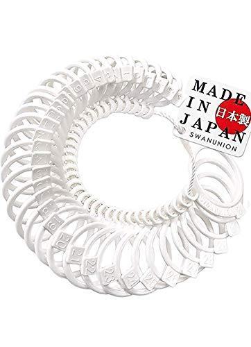 日本製 swanunion リングゲージ 日本職人の技 日本標準規格 全36サイズ 指輪 測定 指 の サイズ 号数 を測れる 純日本製 日本規格 サイズゲージ 0号 ピンキーリング sg8-fba-va