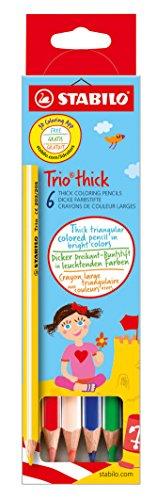 Stabilo Trio Dick Crayons de couleur triangulairesépais 6er Set