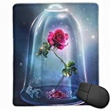 Beauty and Beast Rose Mouse Pad, Non-Slip Rubber Base Gaming Mouse Pad with Locking Edge- 9.8' X 11.8'