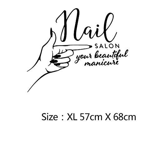 Muursticker huisdecoratie voor woonkamer muurstickers Vinyl Art muurstickers lijm nagellak Salon 57x68cm
