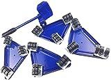 ArkadiaStar Kit para mover muebles pesados de manera fácil evitando lesiones en la espalda y lumbar, consta de 5 piezas en 3 colores. Cuida de tu salud. Juego de herramientas (Blue)