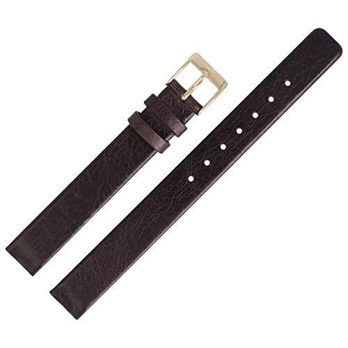 Skagen 358XSGLD - Correa para reloj de pulsera, 12 mm, piel, color marrón