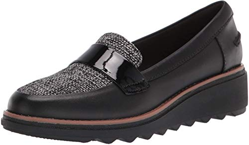 Clarks Womens Sharon Gracie Fabric Closed Toe Loafers, Black Combo, Size 8.5