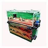 M3 Decorium House House Set-Ant Farm-Honeypot Nest de Doble Cara Transparente con 2pcs x Torre de Agua Inferior (Size : 280x147x240MM)