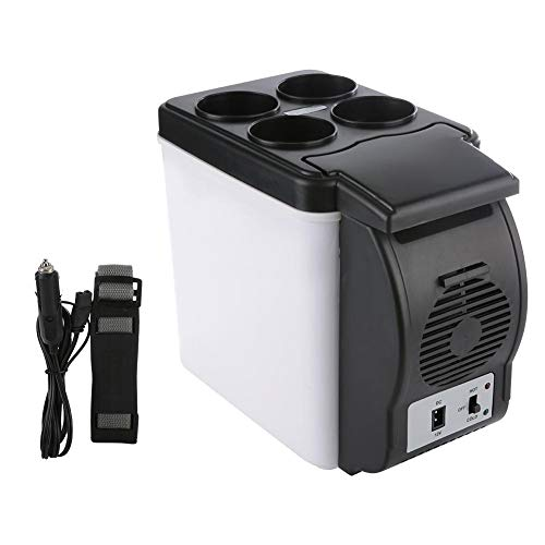 6L Mini Car Frigorifero Auto da campeggio Frigo elettrico Box Cooler e Warmer Congelatore portatile per Camping Car Boating Bar