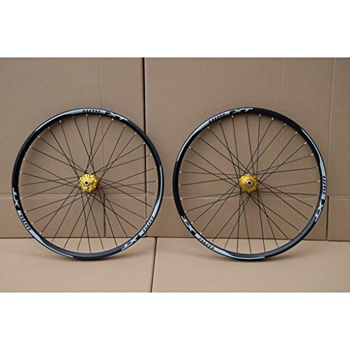 MZPWJD MTB Bicycle Wheelset 26 27.5 29 in Mountain Bike Wheel Double Layer Alloy Rim Sealed Bearing 7-11 Speed Cassette Hub Disc Brake 1100g QR (Color : A, Size : 26inch)