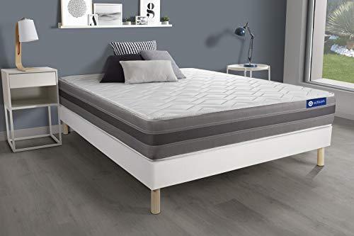 Pack colchón Actiflex Relax 180x200cm + Somier multiláminas, Muelles ensacados y Espuma viscoelástica, 3 Zonas de Confort