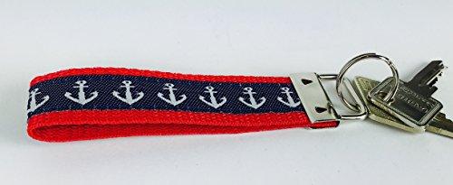 Buddel-Bini Schlüsselband Anker maritim Schlüsselanhänger rot blau