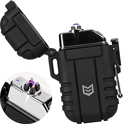 Mission Made Plasma Tactical Lighter Windproof Waterproof USB...