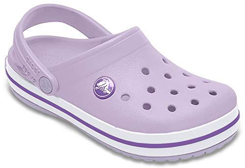 Crocs Kids' Crocband Clog, lavender/neon purple, 5 M US Toddler