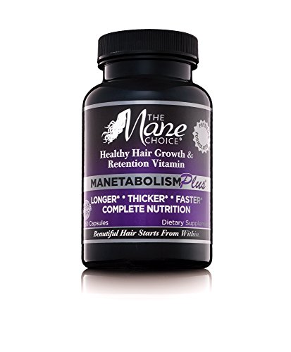 THE MANE CHOICE MANETABOLISM PLUS Healthy Hair Growth Vitamins - Complete Nutrition Supplements for Longer, Thicker and Healthier Hair (60 Capsules)