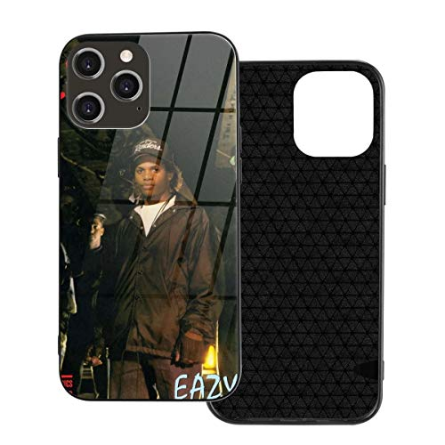 Eazy-E Eazy Duz It Tempered Glass Back + Soft Silicone TPU Shock Absorption Bumper Protective Case Iphone12 Pro