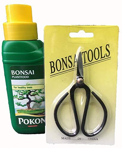 Bonsai-Baum-Pflege-Set, 2-teilig; Flüssignahrung und Schere