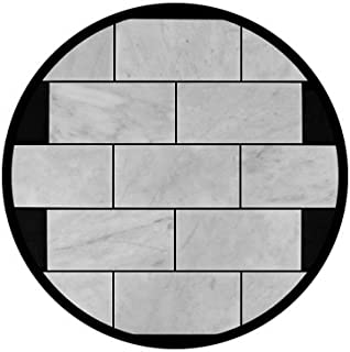 Carrara Marble Italian White Bianco Carrera 3x6 Marble Subway Tile Polished