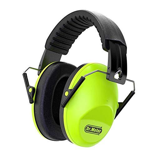 Gehörschutz Kind, Dr.meter SNR 30dB Kids Ohrenschützer mit Lärmschutz für Kinder Ohrenschützer zum Schlafen, Lernen, Kinder Verstellbares Kopfband, Grün