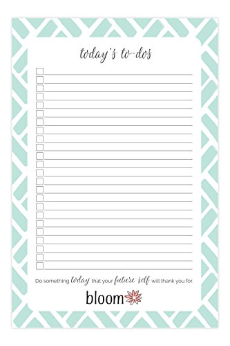 """bloom daily planners Today's to-Dos Tear Off to Do Pad - Mint Daily Planning to Do Pad - 6"""" x 9"""""""