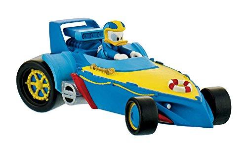 Bullyland 15460 - Disney Micky und die flinken Flitzer Spielfigur, Rennfahrer Donald im Auto