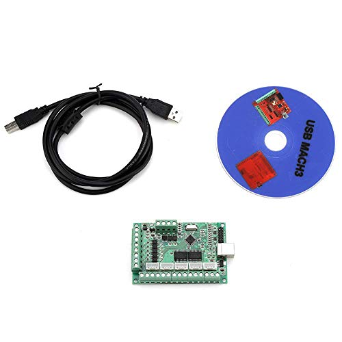 WY-YAN USB Interface Board, 5V Anti-Reverse USB Interface Board CNC Motion Control Card with Stepper Motor Driver for Laptops Tablets Engraving Machine MACH3 Software
