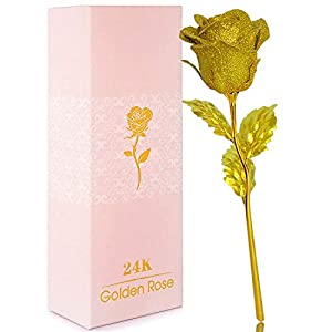 2021 mothers day precious gifts for mom grandma colorful galaxy rose 24k gold rose gifts for women on christmas,24k golden foil roses with led decor,anniversary mothers day birthday valentine's day silk flower arrangements