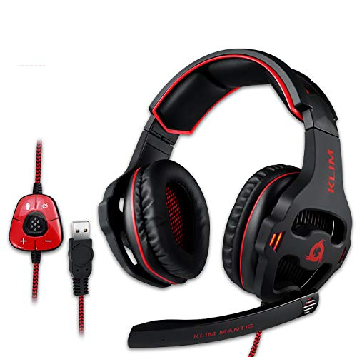 KLIM Mantis Gaming Headset - USB | Headset mit Mikrofon für PC, PS4, Nintendo Switch, Mac + 7.1 Surround Sound Noise Cancelling Gaming Kopfhörer | NEU 2020