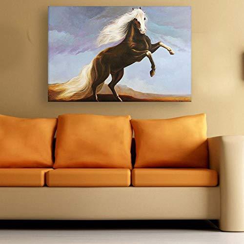SADHAF abstrakte Kunst Pferd Tierdruck Malerei Inneneinrichtung Küche Leinwand Malerei für Erwachsene Raumkunst A6 70X100cm