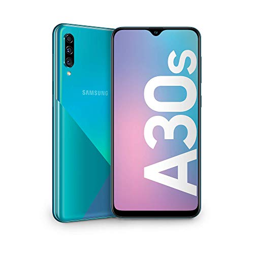 Samsung Galaxy A30s Smartphone, Display 6.4' Super AMOLED, 64 GB Espandibili, RAM 4 GB, Batteria 4000 mAh, 4G, Dual SIM, Android 9 Pie  [Versione Italiana], Green