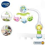 VTech Móvil de viaje Pío Pío melodías, proyector de bebe para cuna o para fijar en silla de paseo y portabebés, multicolor (80-513122)