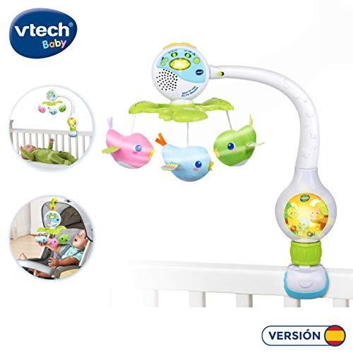 VTech Móvil de viaje Pío Pío melodías, proyector de bebe para cuna o para fijar en silla de paseo y portabebés, multicolor (80-513122) , color/modelo surtido