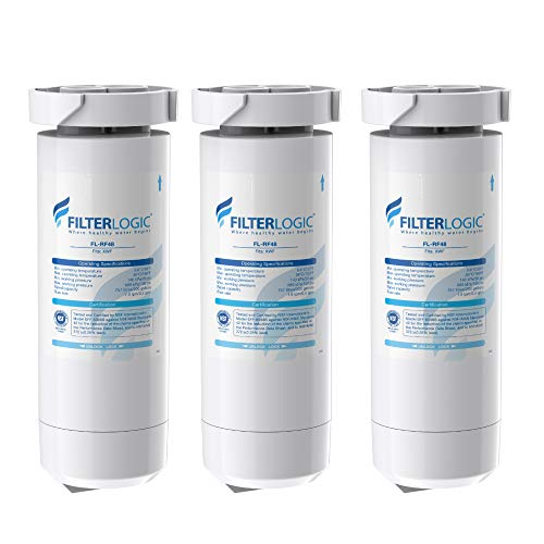 FilterLogic XWF NSF Certified Refrigerator Water Filter, Replacement for GE XWF, WR17X30702, Models Starting with GBE21, GDE21, GDE25, GFE24, GFE26, GNE21, GNE25, GNE27, Pack of 3 (Packaging may vary)