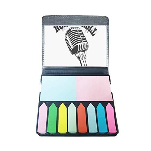 Microfoon Illustreer Muziek Eenvoudig Patroon Zelf Stick Opmerking Kleur Pagina Marker Box