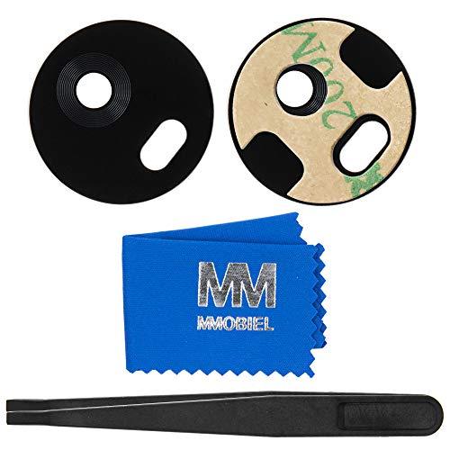 MMOBIELVetro Lente Camera Posteriore Compatibile con Motorola Moto G5 Plus (Nero) con pinzette e Panno Pulizia