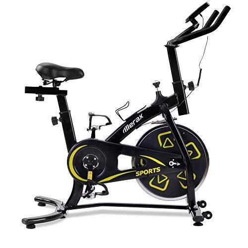 WGYDREAM Bicicleta Estática Spinning Bici Ejercicio Bicicleta De Ejercicios Bicicleta Interior con Consola LCD Cojín Cómodo Asiento para Entrenamiento Cardio Asiento Ajustable Y Manillares