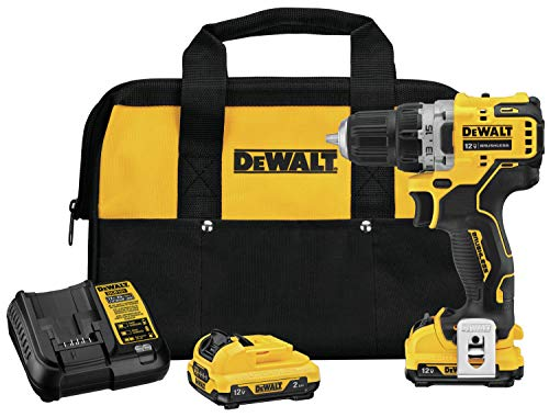 DEWALT XTREME 12V MAX Cordless Drill/Driver Kit, 3/8-Inch (DCD701F2)