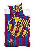 Bettwäsche FC Barcelona 135x200 + 80x80 Messi 100prozent Baumwolle