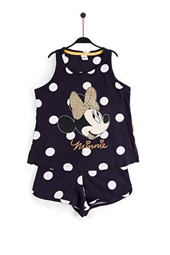 Disney Minnie Golden Bow Schlafanzug für Mädchen, Blau 6 Jahre